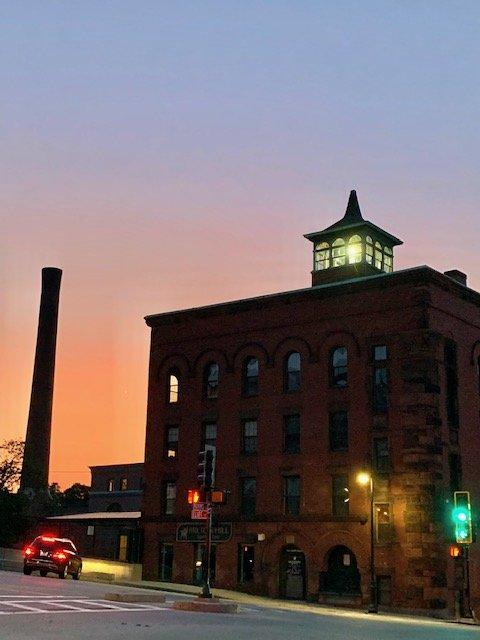 The Webb Mill of Milton Massachusetts at Dusk - Photo Taken by James Stroud